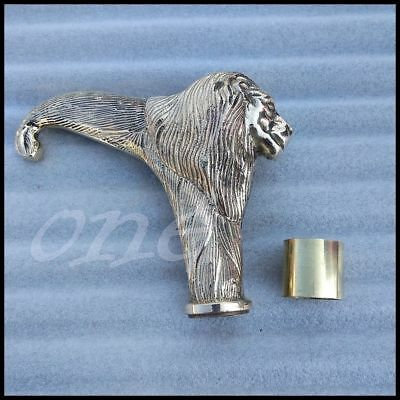 Antique Style Brass lion Head Handle For Wooden Victorian  Vintage Walking CANE