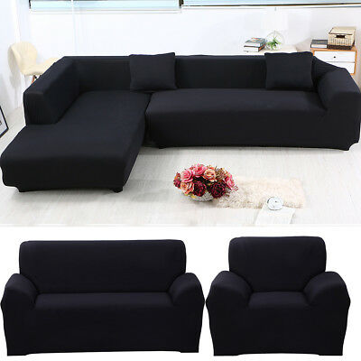 Fit 1/2/3/4 Seater Thick Couch Stretch Sofa Protector Cover Slipcover L Shape US