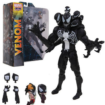 "8"" Marvel Spiderman SELECT Venom Villian Comic Action Figure PVC Doll Toy in Box"