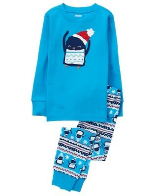 NWT Gymboree  Boys Gymmies Penguin Pajama SET Many sizes Christmas Holiday