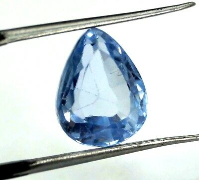 GGL Certified 5.50 Ct Pear Natural Blue Aquamarine Transparent Untreated Gem