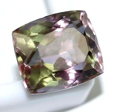 GGL Certified 14.35 Ct Charming Emerald Cut Color Changing Alexandrite Gemstone