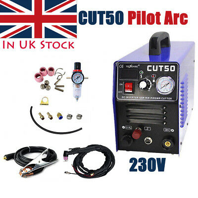 CUT50 Air Plasma Cutter Machine Pilot Arc CNC WSD60p Torches 230V Max 12mm