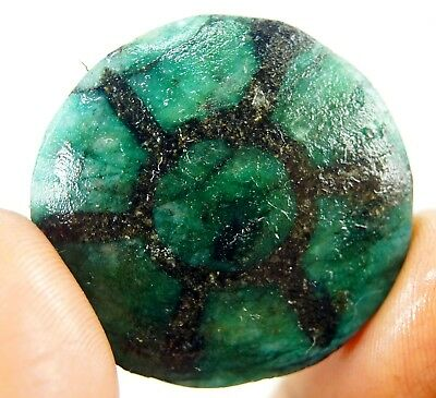 GGL Certified 92 Ct Natural Trapiche Emerald from Colombia Untreated Gemstone