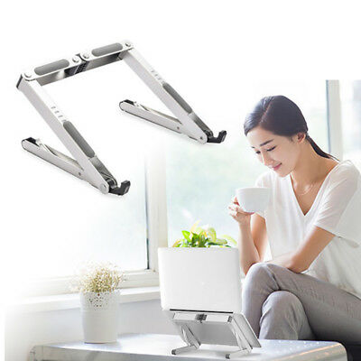 Foldable Portable Laptop Stand Adjustable Aluminum Tablet Holder 11'' to 15.6""