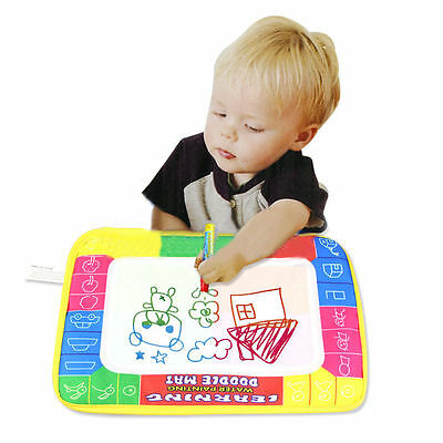 Water Drawing Painting Writing Cloth Mat Board Magic Pen Doodle Kids Baby Toy M