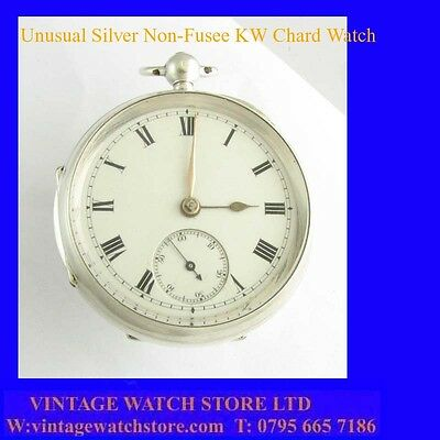 Stunning & Rare Silver WhitMarsh of Chard Non-Fusee Key-Wind Pocket Watch 1827
