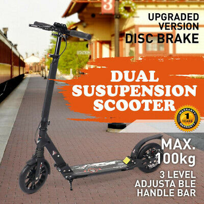 Hand Disc Break Design Big Wheel Push Scooter 200mm Adult Child Commuter gift AU
