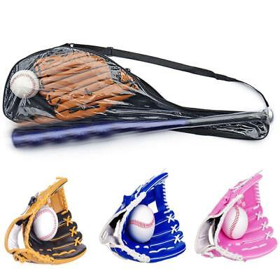Kids Children Youth Baseball Softball Bat + Gloves Sports Game Set Kit Training