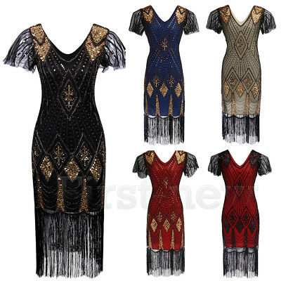 1920s Costumes Flapper Great Gatsby Party Prom Gown Vintage 20s Evening Dresses