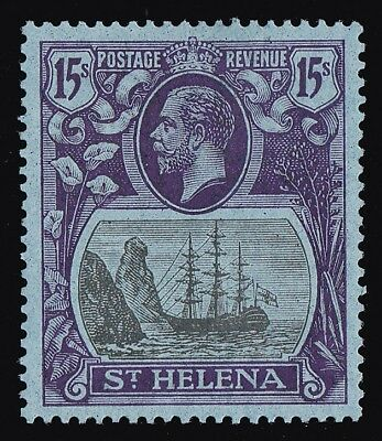 ST. HELENA 1922 KGV Ship 15/- MNH ** RARE KEY STAMP!