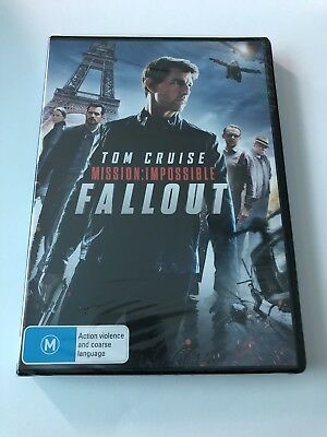 Mission Impossible Fallout (DVD, 2018) Region 4 New & Sealed Rated M Tom Cruise
