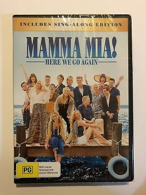 Mamma Mia 2 Here We Go Again Dvd Brand New Sealed Rated Pg Region