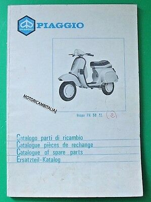 Vespa Pk50 Xl Pk 50 Xl Catalogo Ricambi Catalog Parts Spare Book Part List