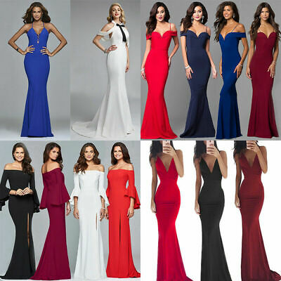 Womens Long Formal Prom Cocktail Dresses Evening Party Wedding Bridesmaid Dress