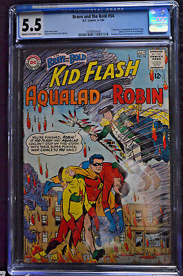 Brave and The Bold #54 CGC 5.5 Origin and 1st appearance of Teen Titans 1964 Key