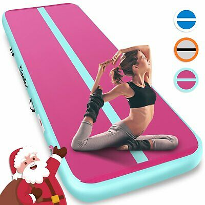 Airtrack Air Track Floor Home Inflatable Gymnastics Tumbling Mat GYM With Pump A