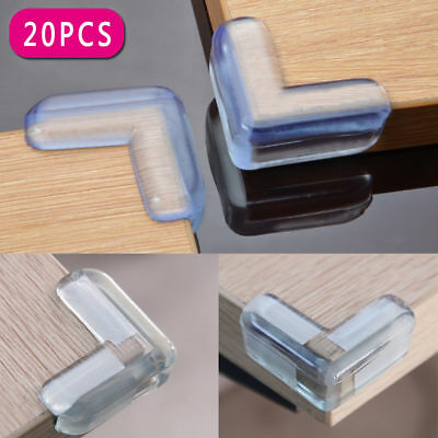 20PCS Clear Table Desk Corner Edge Baby Safety Bumper Protector Guard Cushion C