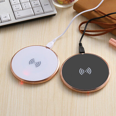 Qi Wireless Charger Slim Charge Pad For Samsung Note 8 S8+ iPhone X 8 Plus Ev
