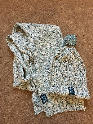 Womens Superdry Hat And Scarf Set