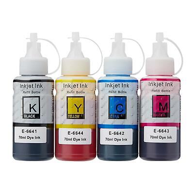 1 Go Inks Set of 4 Ink Bottles to replace Epson EcoTank T664 Compatible