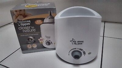 Tommee Tippee Express and Go Baby Bottle Warmer for Food And Milk - Boxed