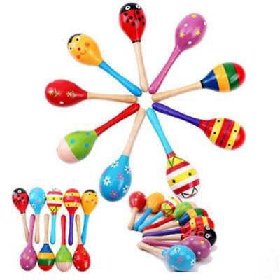 Funny  Kids Sound Music Gift Toddler Rattle Musical Wooden Intelligent Toys GA