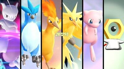 All 6IV Shiny Legends Pack Mewtwo Meltan Pokemon Lets Go Pikachu & Eevee Switch