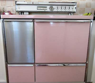1952 Pink General Electric Stratoliner Stove & Double Oven