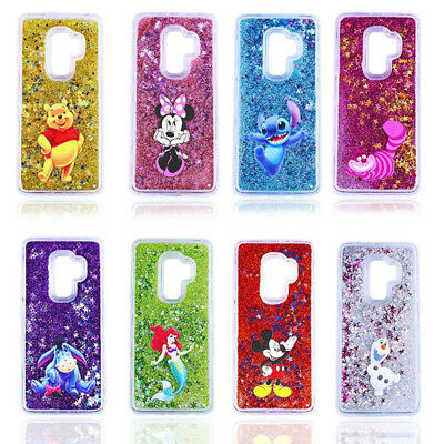 best sneakers 1e530 c4494 DISNEY GLITTER LIQUID quicksand Phone Case Cover for Samsung S8 S9 Plus  Note8/9