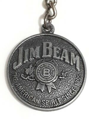 Jim Beam -  double sided collectable key ring - collectable