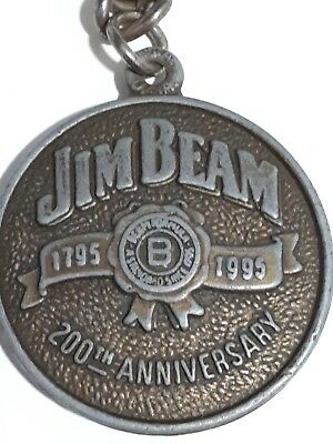 Jim Beam - 200th anniversary double sided collectable key ring
