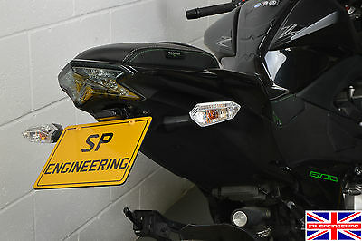 Kawasaki Z800 (2015) SP Engineering Tail Tidy - Standard Indicator Fitment