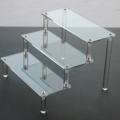 Clear Acrylic 3-5 Tier Display Shelf Showcase for Action Figure Toy Cosmetics