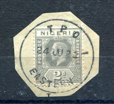 """Nigeria 2d. grey (die I) used on piece with clear 1922 """"T.P.O. EASTERN"""" postmark"""