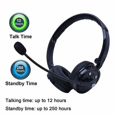 Headset Headphones Wireless Bluetooth with Mic for iPhone Samsung PC PS3 Gaming