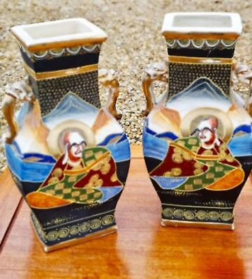 A rare collectible pair of Satsuma early 20thC vases simply stunning (RRP 1000)