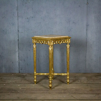 Lovely French Antique Gold Side Table, Bedside