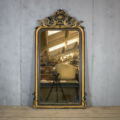 Stunning, French Antique RococoMirror, Lovely Patina And Size, Vintage, Original