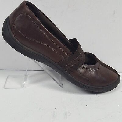 ab519dea094 Clarks Mary Jane Comfort Flats Brown Leather Shoes 88957 Womens Size 7.5 M