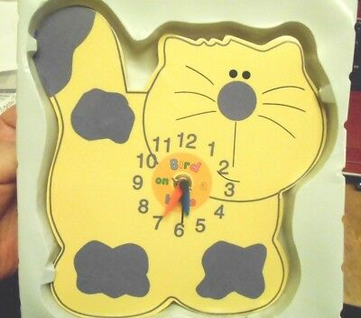REDUCED! Novelty CAT Clock - Child's Bedroom Kitchen Dining Wall Clock Kitsch