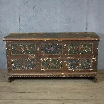 Beautiful, French 19th Century, Antique, Vintage Trunk, Original Paint!