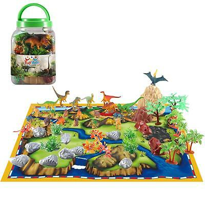 50 Piece Dinosaur Play Set: Ultimate Educational Toy of 20 Realistic Dinosaurs