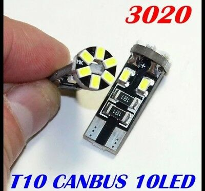 2 Leds W5W , T10 De 10 Led Smd Can Bus