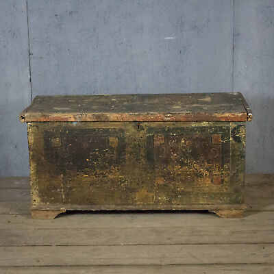 Beautiful, French 18th Century, Antique, Vintage Trunk, Original Paint!