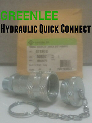 GREENLEE 4018GB Quick Coupler 3/8 INCH Female for Hydraulic bender pumps hose