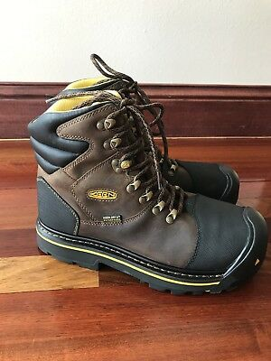 KEEN Utility 1009174 Milwaukee Waterproof Steel Toe Work and Safety Boot, size 8