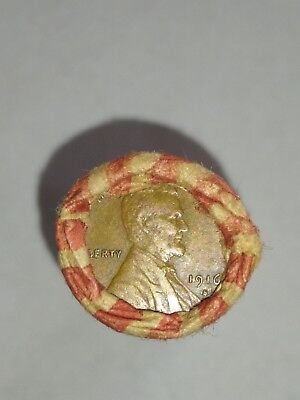 Wheat Penny Shotgun Roll 1909 Vdb And 1916 S End Pennies