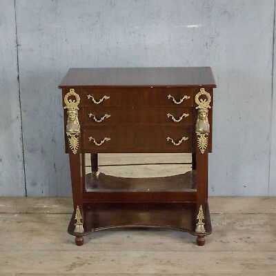 Lovely French Antique Side Table With Drawers