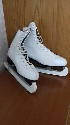 Ladies White Ice Skating Boots Size 5 (38)